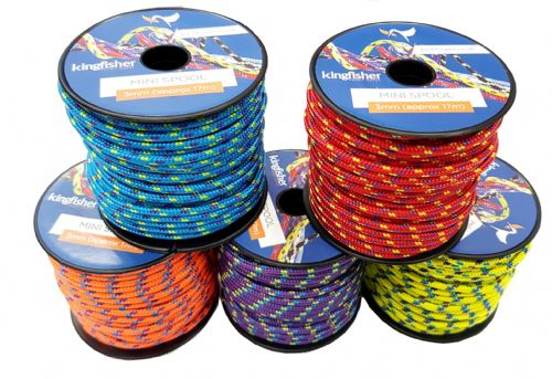 Kingfisher Yacht Ropes  2mm x 25m Approx Mini Spool assorted colours 1 reel only